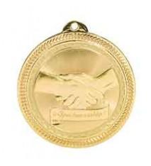 "2"" Sportsmanship Laserable BriteLazer Medal"