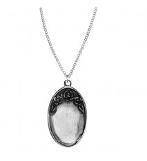 Engrave able Oval Pendant