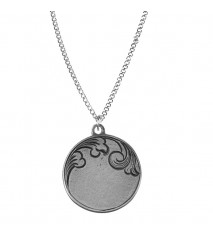 Engrave able Round Pendant
