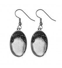 Engrave able Oval Earrings
