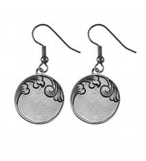 Engrave able Round Earrings