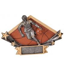 "4 1/4"" x 6 1/4"" Male Basketball Diamond Star Resin"