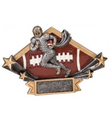 "4 1/4"" x 6 1/4"" Male Football Diamond Star Resin"