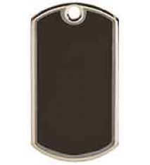 "2"" Black/Silver Blank Laserable Dog Tag"