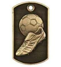 "2"" 3D Soccer Dog Tag"