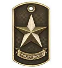 "2"" 3D Star Performer Dog Tag"