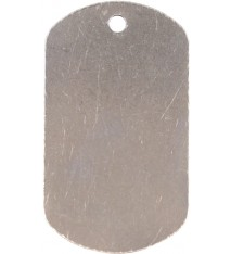 "1 1/8"" x 2"" Silver Laserable Dog Tag"