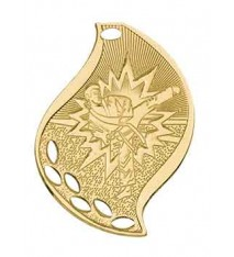 "2 1/4"" Karate Laserable Flame Medal"