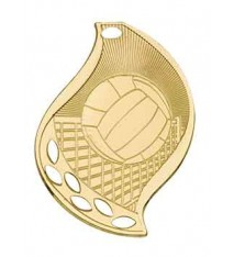 """2 1/4"""" Volleyball Laserable Flame Medal"""