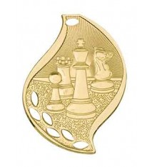 "2 1/4"" Chess Laserable Flame Medal"