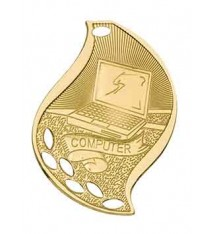 "2 1/4"" Computer Laserable Flame Medal"