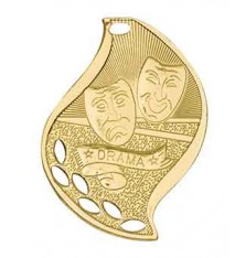 "2 1/4"" Drama Laserable Flame Medal"