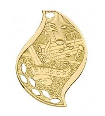 """2 1/4"""" Music Laserable Flame Medal"""