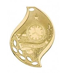 "2 1/4"" Perfect Attendance Laserable Flame Medal"