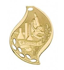 "2 1/4"" Science Laserable Flame Medal"