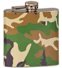 6 OZ CAMOUFLAGE FLASK