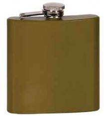 6 OZ MATTE GREEN FLASK
