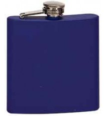 6 OZ MATTE BLUE FLASK