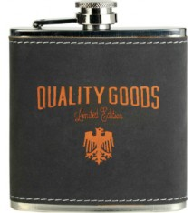 6 OZ DRK GRAY/ORNG FLASK