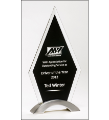 Diamond Series Black Glass Award