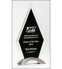 Diamond Series Black Glass Award