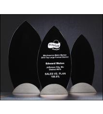Flame Series Black Glass Award