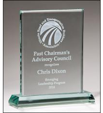 Premium Series Jade Glass Standing Award