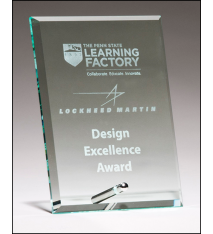 Clear Glass Standing Plaque