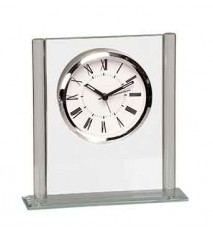 "6-1/4"" GLASS SQUARE CLOCK"