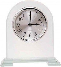 "6.5"" ARCH GLASS CLOCK"