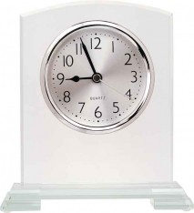 "6.5"" SQR ARCH GLASS CLOCK"