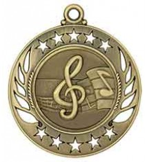 "2 1/4"" Music Galaxy Medal"
