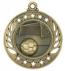 """2 1/4"""" Soccer Galaxy Medal"""