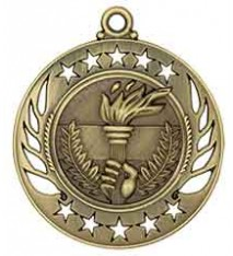 "2 1/4"" Torch Galaxy Medal"