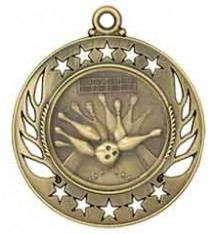 "2 1/4"" Bowling Galaxy Medal"