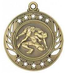 """2 1/4"""" Wrestling Galaxy Medal"""
