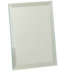 Clear Mirror Glass Plaque
