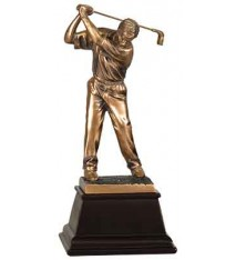 "9 1/2"" Bronze Male Golf Resin Award"