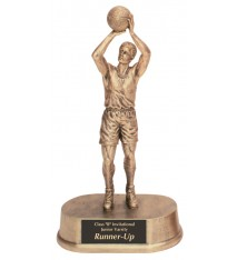 "9 1/2"" Antique Gold Male Basketball Resin"