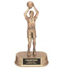 "9 1/4"" Antique Gold Female Basketball Resin"