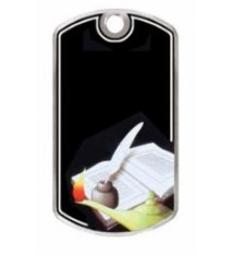 BLACK BEAUTY DOG TAG LAMP OF KNOWLEDGE