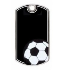 BLACK BEAUTY DOG TAG SOCCER