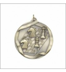 CHESS MEDAL GOLD 2-1/4""