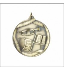 BAND MEDAL GOLD 2-1/4""
