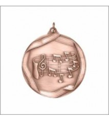 MUSIC NOTE MEDAL BRONZE