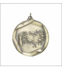 MUSIC NOTE MEDAL GOLD 2-