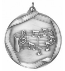 MUSIC NOTE MEDAL SILVER