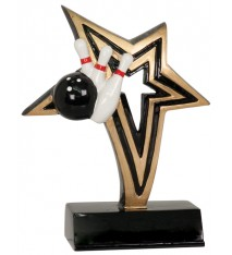 "6"" Bowling Infinity Star Resin"