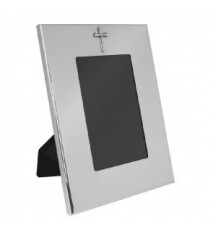 "Vertical Wide Border Frame w/Cross 4"" x 6"""
