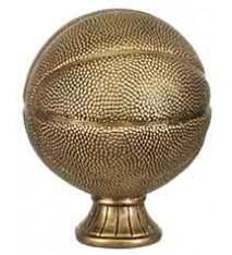 "5 1/2"" Antique Gold Basketball Resin"